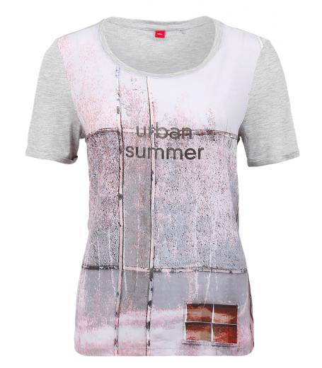 T-shirt med motiv - S.Oliver