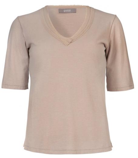 T-shirt med v-hals fra Gustav - 22726