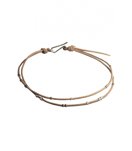 Tina Hjelm lædersnor armbånd