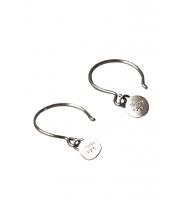 Tina Hjelm nametag sølv ørering