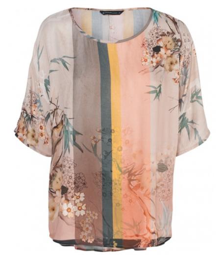 Top med blomsterprint fra Summum