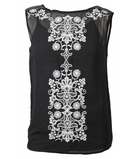 Top w embroidery