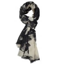 Uld/silke tørklæde med print fra Gustav - 18807