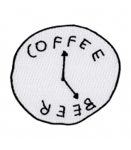 VALLEY CRUISE COFFEE BEER CLOCK PATCH BY KATY KOS
