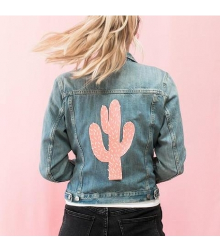 VALLEY CRUISE PINK CACTUS BACK PATCH