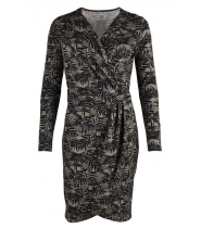 Wrap around printed dress